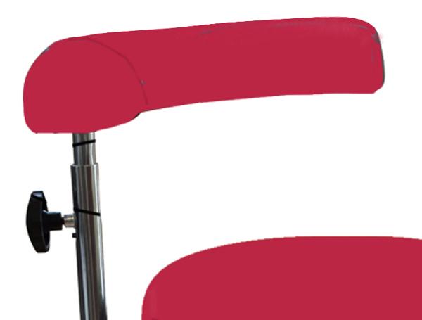 Rücken-Armlehne für Workchair PIKO - Samtrot